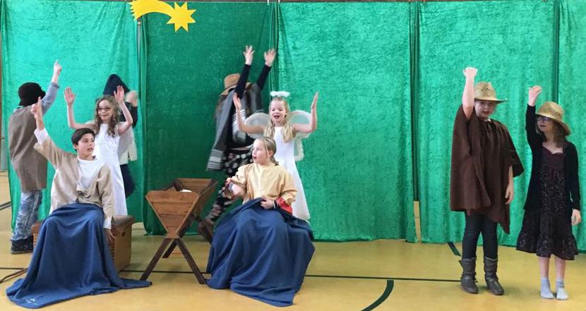 Weihnachtsfeier Theaterstück.Waldschule